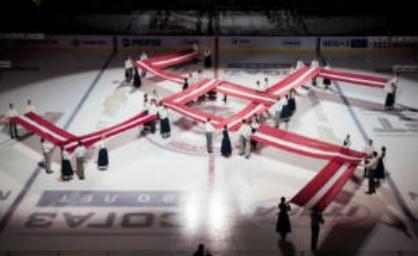 В Риге в честь 95-летнего юбилея Латвии – свастика